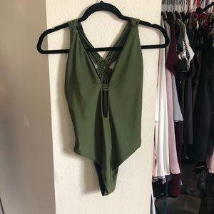 Shein Green One-Piece Swimsuit